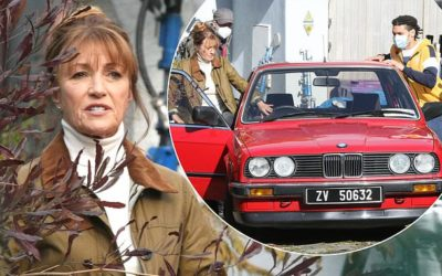 FIRST LOOK: Jane Seymour drives red BMW on the set of Wild Harry while filming in Ireland | Daily Mail Online