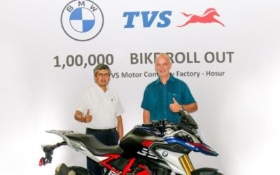 TVS Motor Company rolls out the 100,000 unit of the BMW 310cc series motorcycle from Hosur Facility » PuneDiary.Com